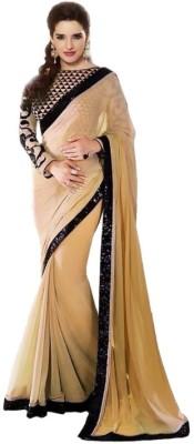 Bluebirdimpex Plain Bollywood Chiffon Sari