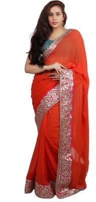 Philanto Design Self Design Fashion Georgette Sari