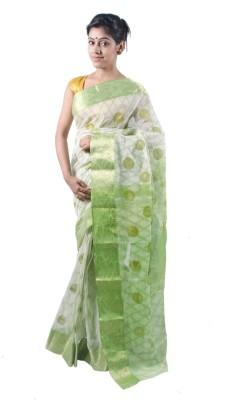 Rudrakshhh Embriodered Tant Handloom Cotton Sari at flipkart