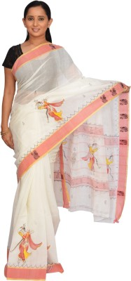 Siri Arts Printed Fashion Handloom Cotton Sari