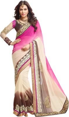 Prerana Fashion Embriodered Fashion Georgette Sari