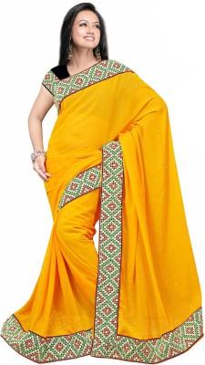 Premvati Embriodered Fashion Handloom Georgette Sari