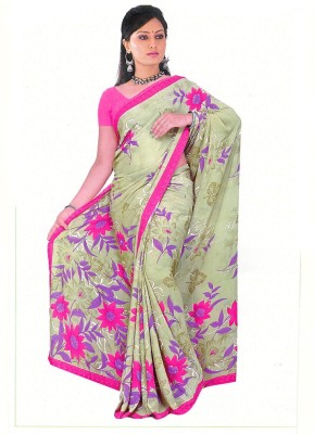 Nikita Collection Printed Fashion Synthetic Sari