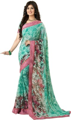 meshwafashion Printed Bollywood Chiffon Sari