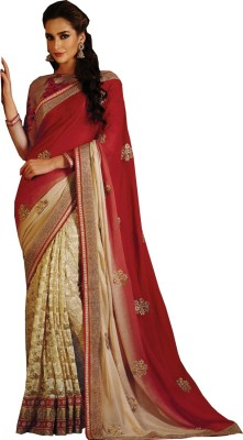 Renishafashion Embriodered Fashion Viscose Sari