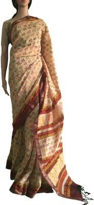 colorsofcraft Self Design Maheshwari Silk Cotton Blend Sari