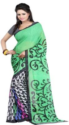 Majestic Silk Printed Bhagalpuri Silk Sari