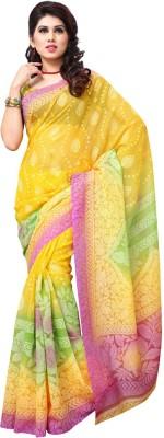 Firstloot Printed Fashion Handloom Art Silk Sari