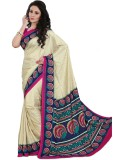 Kunal Printed Fashion Art Silk Saree (Mu...