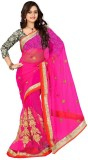 Sareeka Sarees Embroidered Bollywood Net...