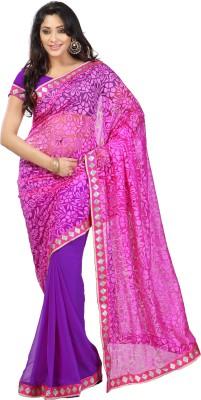 RR Sarees Embellished Bollywood Chiffon Sari