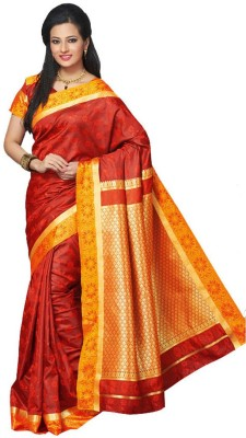 IVAANA Woven Kanjivaram Art Silk Sari
