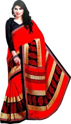 Aara Textiles Floral Print Fashion Synthetic Fabric Sari