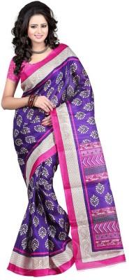 Aks Worldshop Printed Bhagalpuri Khadi Sari