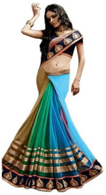 Youth Mantra Embriodered Bollywood Georgette, Net Sari