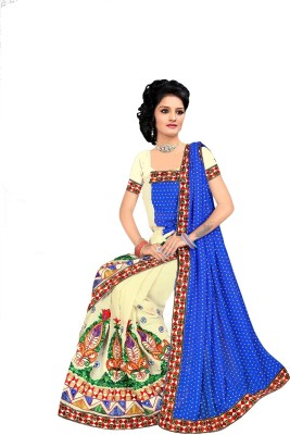 Priyanshu Creation Embriodered Bollywood Georgette Sari