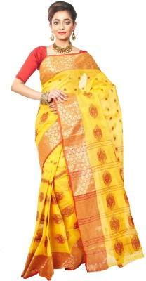 Loom&Crafts Woven Tant Cotton Sari