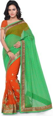 Four Seasons Embriodered Fashion Georgette Sari