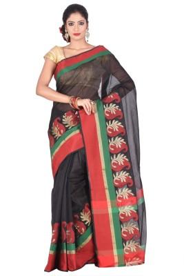Creation Floral Print Fashion Silk Cotton Blend Sari