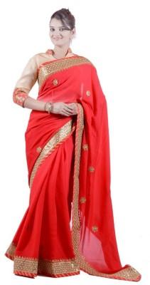 Janaknandini Solid Fashion Chiffon Sari