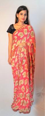 fille avis Floral Print Daily Wear Chiffon Sari