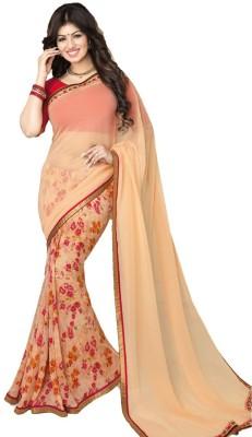 Twinsbirds Floral Print Bollywood Georgette Sari