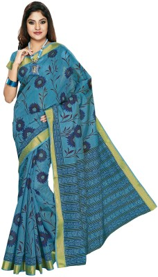 Jevi Prints Printed Gadwal Cotton Sari