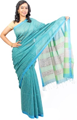 Slice of Bengal Striped Tant Cotton Sari