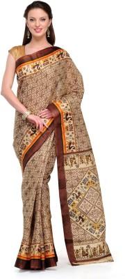 Cenizas Printed, Animal Print Fashion Art Silk Sari