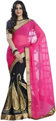 Dharmaproducts Embriodered Bollywood Chiffon Sari