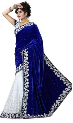 Kalafashion Self Design Bollywood Velvet, Net Sari