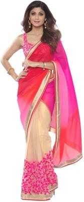 Ansu Fashion Embriodered Fashion Georgette Sari
