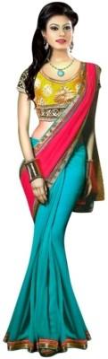 Indian Ethenic Solid Banarasi Georgette Sari