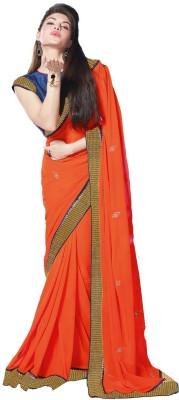 V-Style4u Embriodered Fashion Pure Georgette Sari