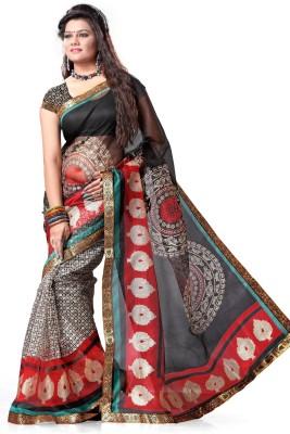 Adah Fashions Printed Fashion Net Sari