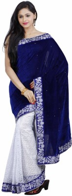 FastColors Embriodered Bollywood Velvet Sari