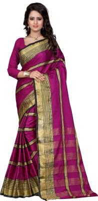 DIVINEFASHIONSTUDIO Self Design Kanjivaram Art Silk Sari