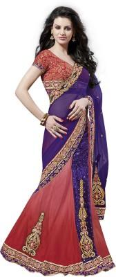 Moh Manthan Self Design Fashion Net, Velvet Sari