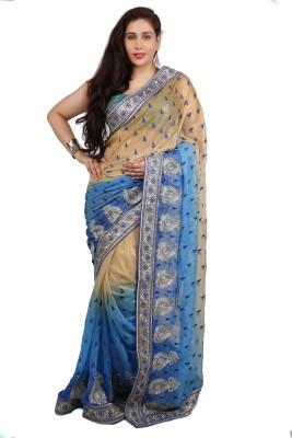 Philanto Design Self Design Fashion Chiffon Sari