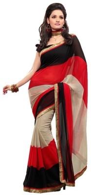 Shree Sidh Striped Fashion Chiffon Sari