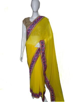 SanSaree Self Design Bollywood Georgette Sari