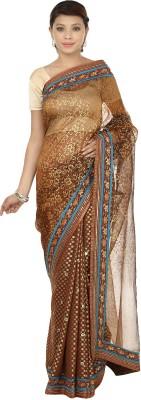 Gopalka Prints Embriodered Fashion Organza, Chanderi Sari