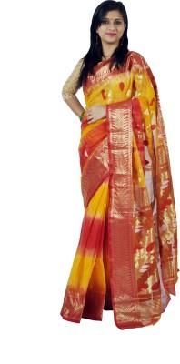MCLS FASHION Woven Phulia Handloom Tussar Silk Sari