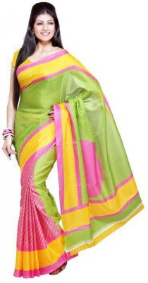 Styleon Printed Bhagalpuri Art Silk Sari