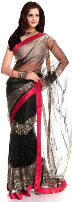 Silvermoon Self Design Bollywood Net Sari