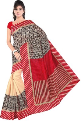 Sathiya Print Floral Print Fashion Handloom Pure Silk Sari