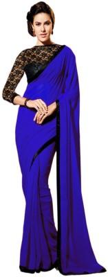 Redqueen Fashion Solid Bollywood Georgette Sari