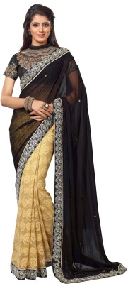FNF Self Design Fashion Chiffon Sari