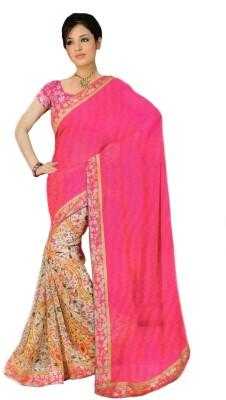 diyafashion1 Floral Print Bollywood Georgette Sari
