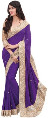 Indian Boutique Embriodered Fashion Georgette Sari
